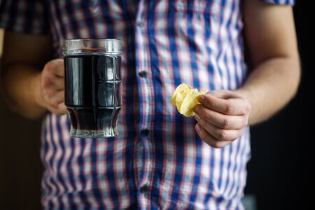 weight loss, unhealthy eating, alcohol addiction Stock Photo