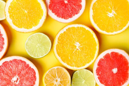 Summertime tropical background, citrus texture