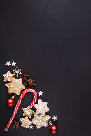 Christmas composition, winter holiday greeting card