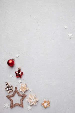 Winter background, Christmas, New Year composition