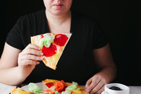 Micro plastic pollution of food global problem Фото со стока