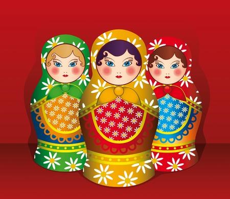 mu�ecas rusas: Matrioska es tradicional souvenir ruso
