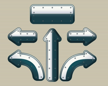 chrom: Set of steel arrows plus sign