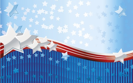 Fourth of July background Vector