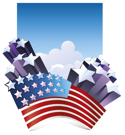 Fourth of July background. Stock Vector - 9626736