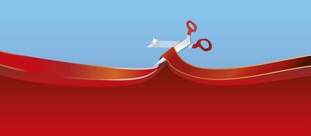 tijeras cortando: Cinta de corte de tijeras