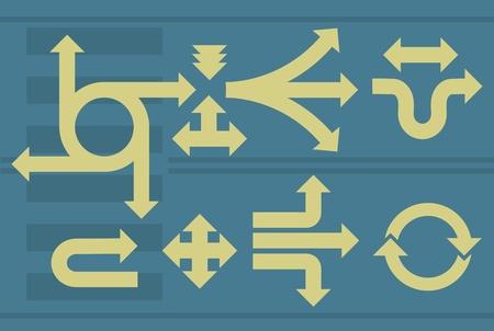 Arrows set. Vector