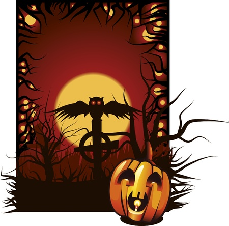 Vector Halloween illustration. Stock Vector - 9626741