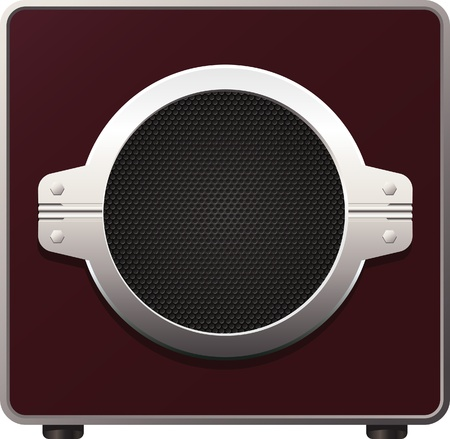 aperture grid: Vector illustration of subwoofer