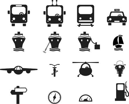 Set of Transportation icons.