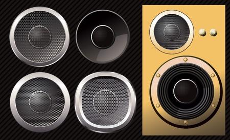 Set of vector Speakers.