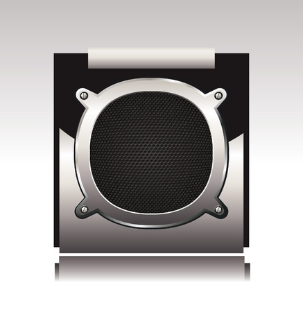 aperture grid: Detailed illustration of subwoofer.