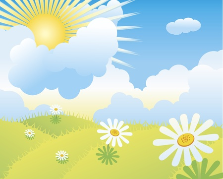 Vector illustration of meadow. Stock Vector - 9713519