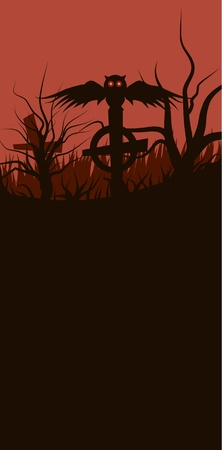 Vector illustration of Halloween baner.