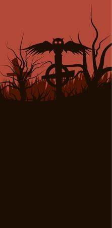 Vector illustration of Halloween baner.