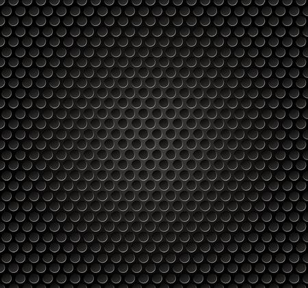 grille: Vector illutration of speaker metal grille.
