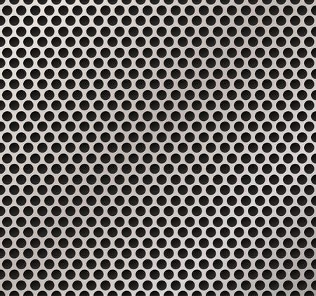 Illutration de vector de rejilla metálica de altavoz.