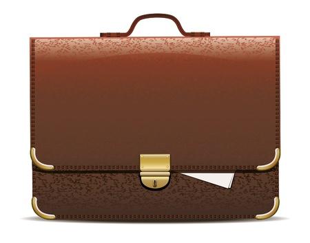 case: Vector illustration of brown briefcase.