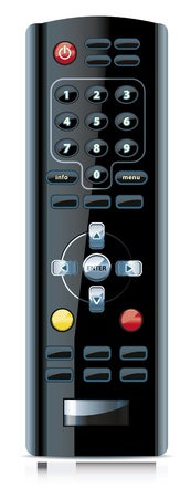 command button: Vector of realistic looking remote control.