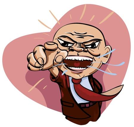 Pour patron en colère avec amour.