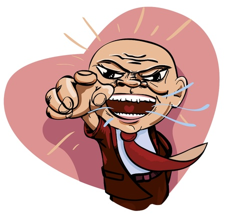 To angry boss with love. Vector