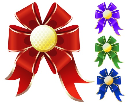 bows and ribbons: Set of gift bows. Illustration