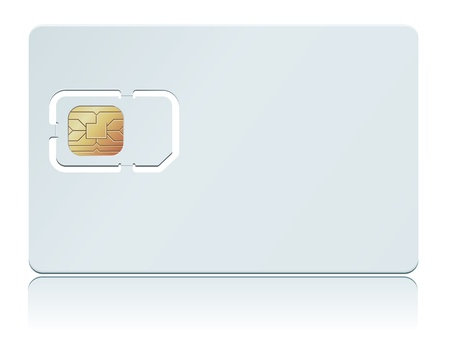 sim: illustration of blank SIM Card. Illustration
