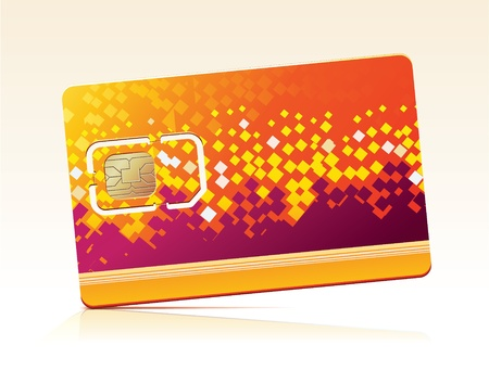 illustration of SIM Card. Stock Vector - 11878516