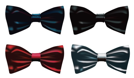 illustration of a four bow ties. Vector