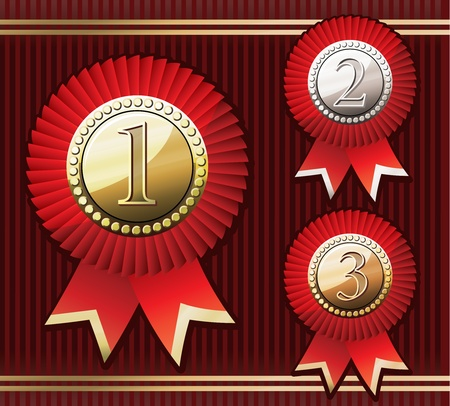 Set Of Awards Vector