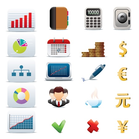 finance icon: Set of 20 business icons