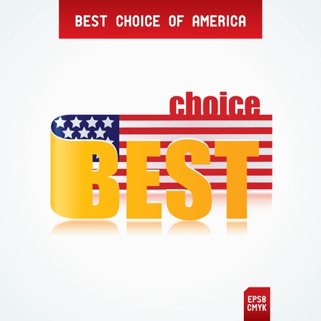 Best Choice Tags with American flag Stock Vector - 12471422
