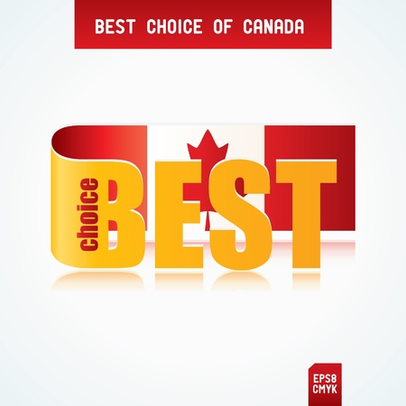Best Choice Tag with Canadian flag Stock Vector - 12471404