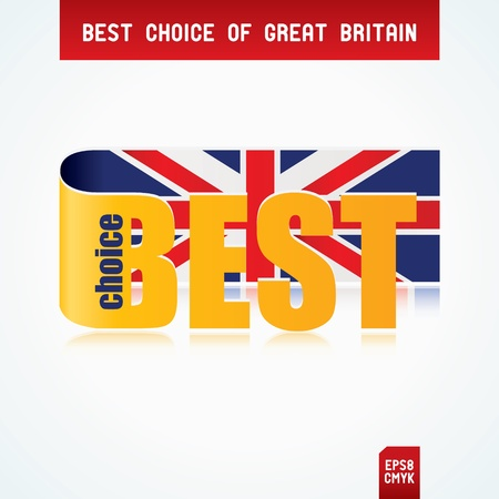 Best Choice Tag with Great Britain flag Stock Vector - 12471408