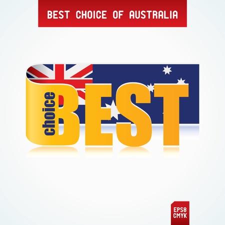 Best Choice Tag with Australian flag Illustration