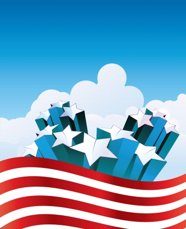 Fourth of July - American style s background