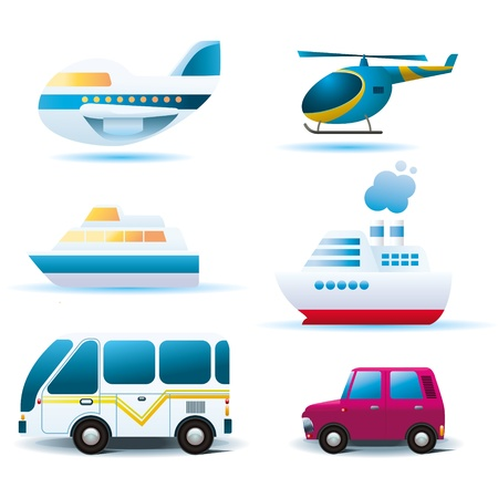 Set of tranportation icons