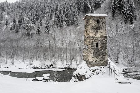 12th century: Ushguli.The Ushguli Chapel located on a hilltop near the village dates back to the 12th century