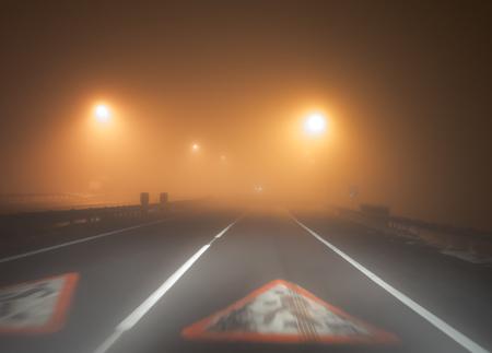 heavy: Road in the heavy fog