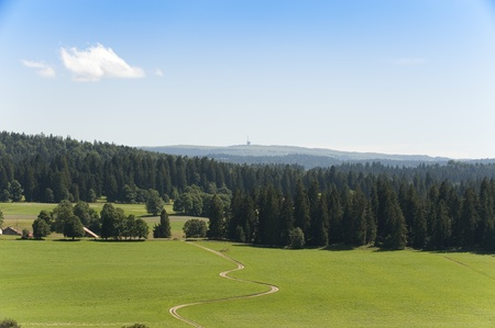 Jura Landscape with view on the Chasseral Mountain, Switzerland photo