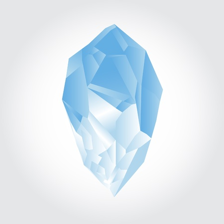Abstract vector of nature crystal with polygons