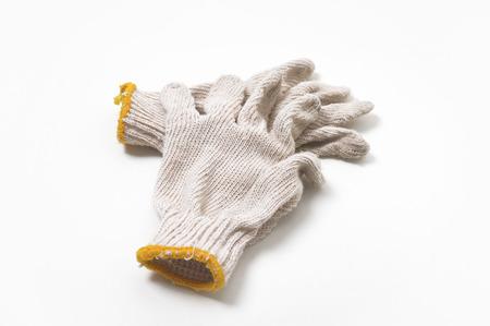 Work gloves on white background  Stock Photo