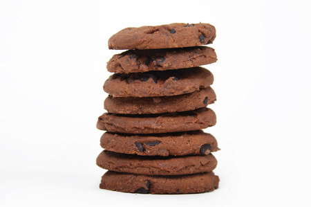 Chocolate cookies tower photo