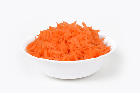 Grated carrots Stock Photo