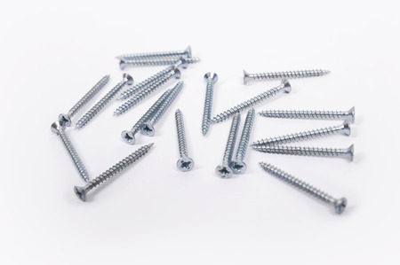 screws isolated on white background