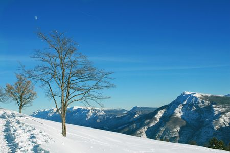 High mountains snow landscape Stock Photo - 4023021
