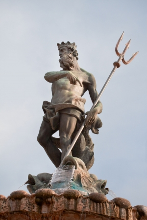 Fountain of Neptune in Piazza Duomo inTrento, Northern Italy photo