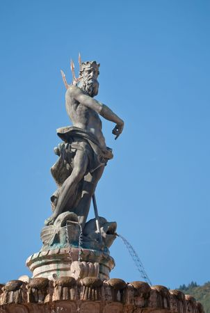 Fountain of Neptune in Piazza Duomo in Trento, Northern Italy photo