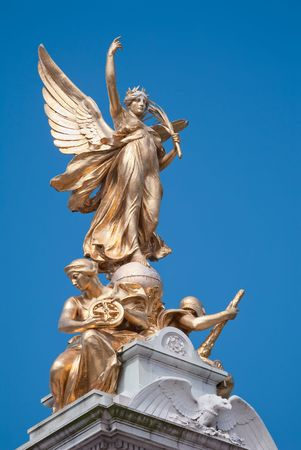 Detail of Victoria Memorial in London: Victory  photo