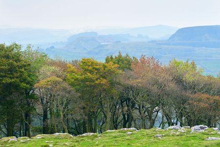 Autumn landscape in Peak District, England photo